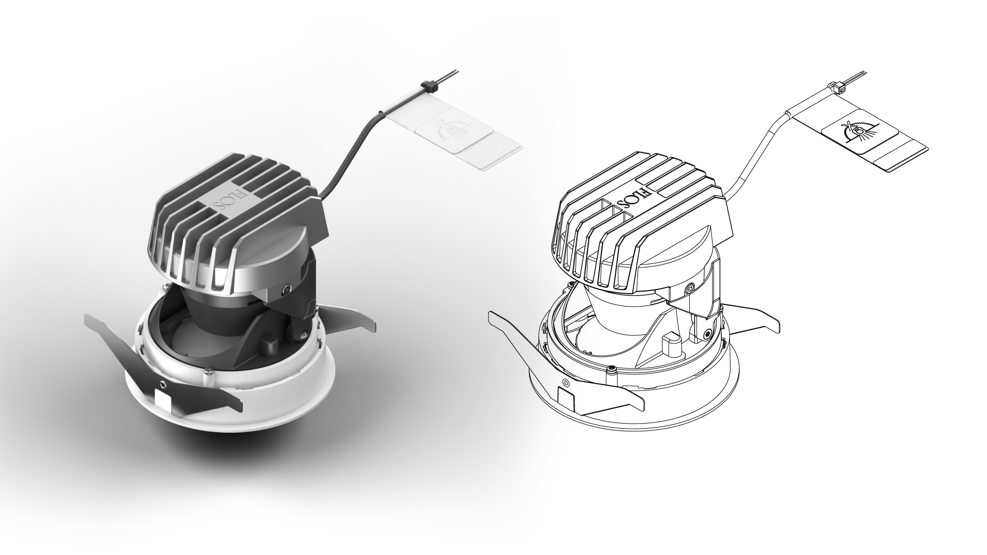 Visualización de producto 3D. FLOS Light Shooter