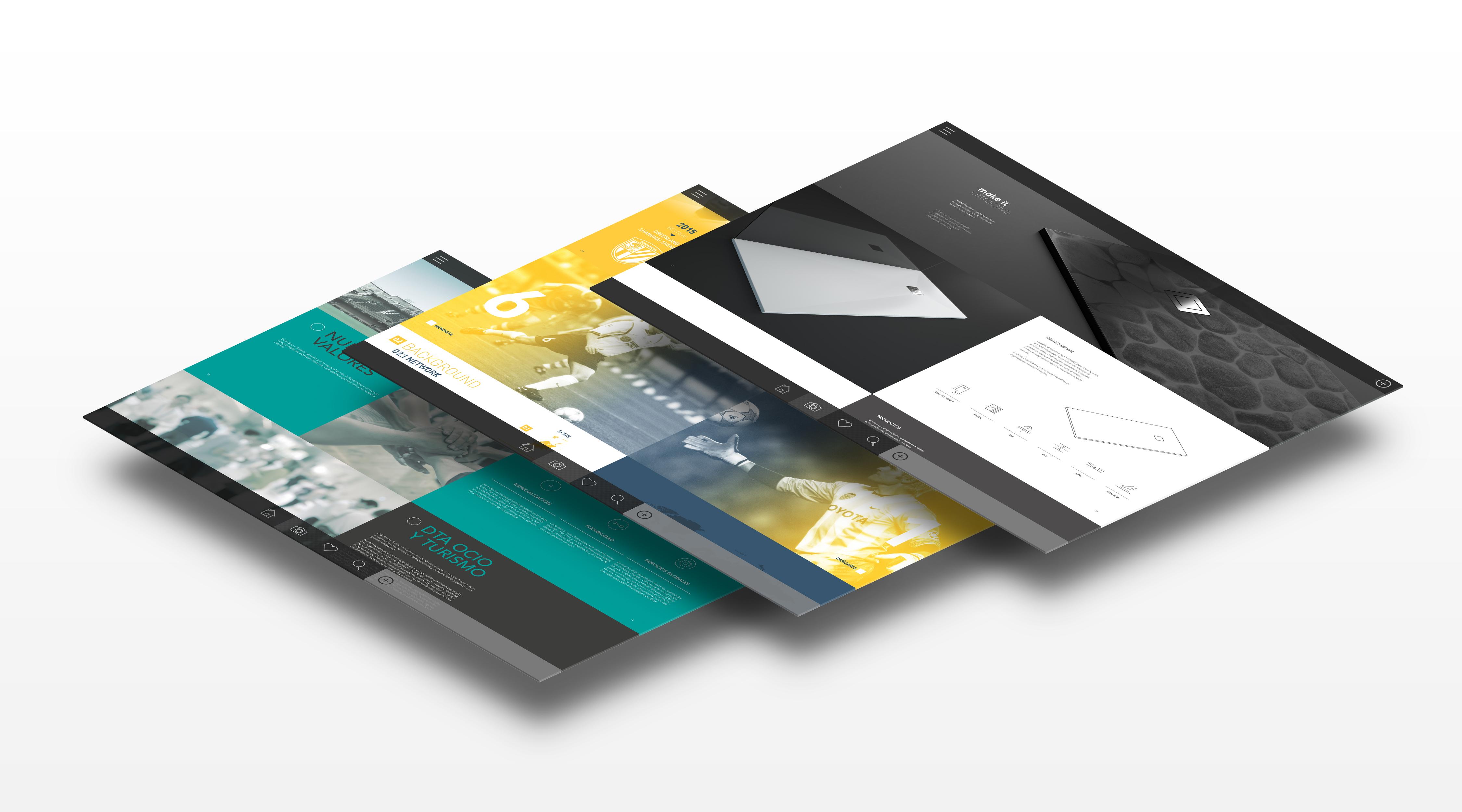Catalogo Digital 3D sobre fondo blanco